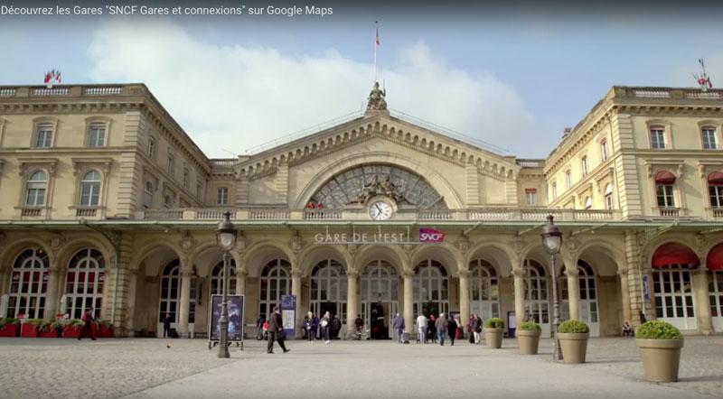 Les gares SNCF sur Google Street View